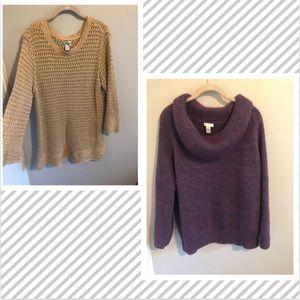 Set of 2 Chico's Knit Sweaters (size large)